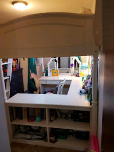 Used PB Teen Double Loft Bed for Sale $800