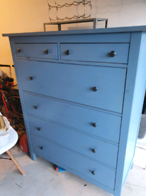 IKEA Hemnes blue drawers