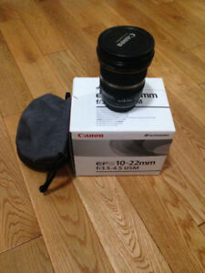 Canon EF-S 10-22 Wide Angle Zoom + filter UV MRC
