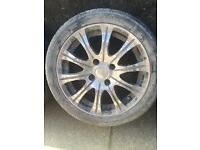 "Ssw Stanford 15"" alloy wheels. Fits Ford Fiesta mk4 and 5"