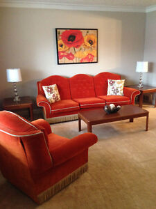 Sofa Set - Couch & Matching Side Chair