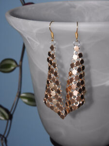 Re-purposed HANDMADE gold coloured earrings ($7)
