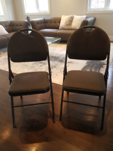 Curved Back XL Comfort Folding Chair Black Fabric (set of 2)