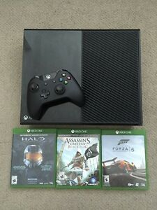500GB XBOX ONE with Kinect + 3 games