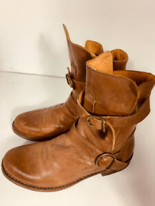 *FLORENTINI + BAKER - leather boots - woman  size 10  40euro