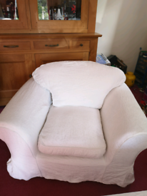 Sofa plus chair with washable covers _ free