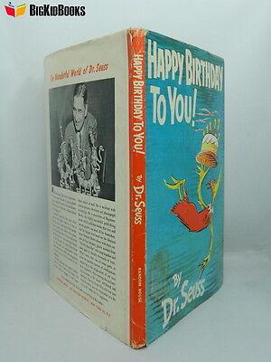 Happy Birthday to You 1954 Dr. Seuss 1st/1st DJ Dust Jacket White - Dr Seuss First Birthday