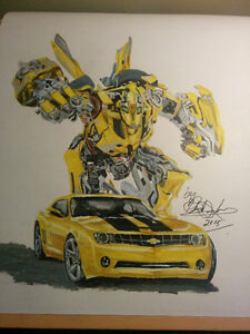 Bumblebee and car