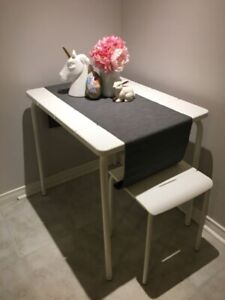Small IKEA Table and two stools (Indoor/Outdoor)