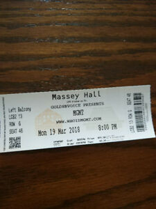 MGMT Live at Massey Hall March 19th Ticket