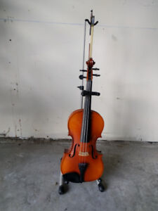 Violin with Case and Stand
