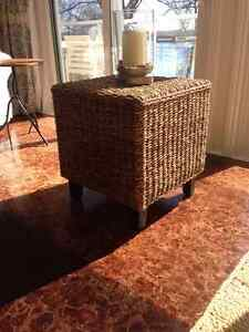Wicker side or coffee table.
