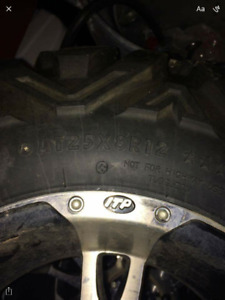 REDUCE!!!ATV BIG HORN TIRES AND SS RIMS