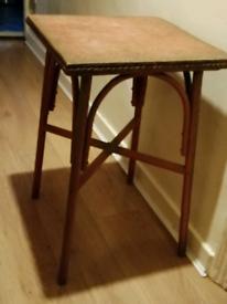 Vintage Lloyd Loom Style Table