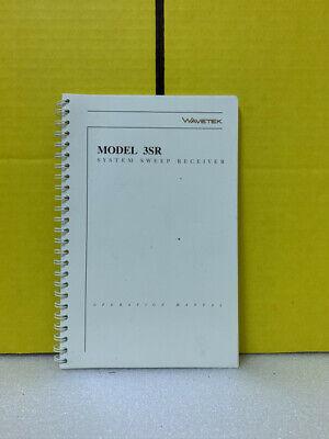 Wavetek Model 3sr System Sweep Receiver Operation Manual