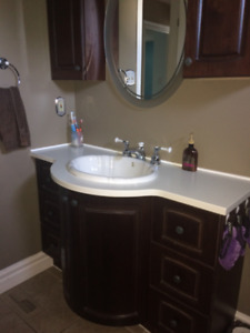 Bathroom Vanity with upper cabinets