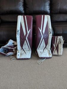 Pro Brian's Subzero3 Goalie Pads, Glove, Blocker - Full Right