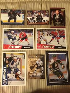 8, VARIOUS UD OVERSIZED CARDS INCL. CROSBY, OVECHKIN & CARTER +