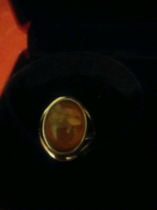 Amber ring! Great for a Christmas gift!