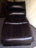 Leather Chaise for sale