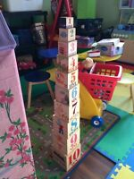 Wooden stacking blocks (In the night garden characters)