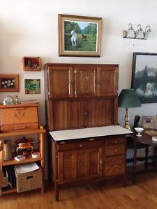 Hoosier Oak Cabinet