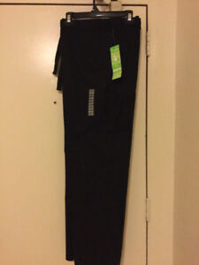 Two pairs of woman new black scrub pants 2xl (mark's) new