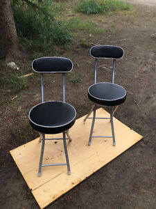 Set of two foldable chairs