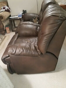 NEW REDUCED PRICE - Brown Leather Wall-Hugging Power Recliner London Ontario image 4