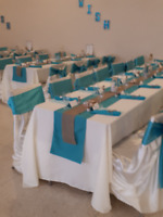 WEDDING OR SPECIAL OCCASION TABLE LINES.  USED ONLY ONCE