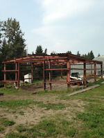 Steel 32' X 56' Red Iron Building Shop