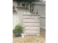 Beautiful Solid Pine Shabby Chic Chest of Drawers