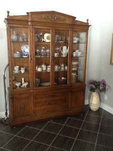 Antique China Cabinet with interior lighting