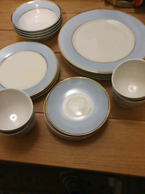 Royal Doulton, Bruce Oldfield, Baby Blue with dual gold bands