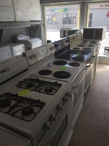 Used appliances cleaned and tested