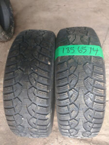 Two 185 65 14 winter tires