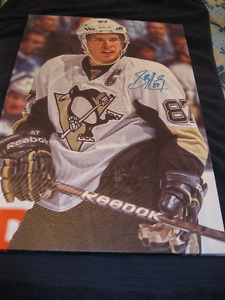 Autographed Signed Sidney Crosby Frameworth Canvas print