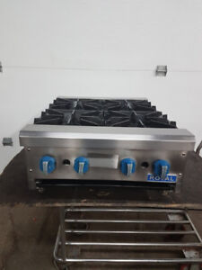 Royal 4 burners hotplate gas countertop, poêle 4 ronds au gas