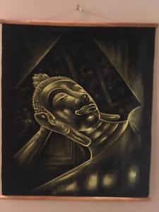 Velvet 5D Diamond Thai Buddha hanging art