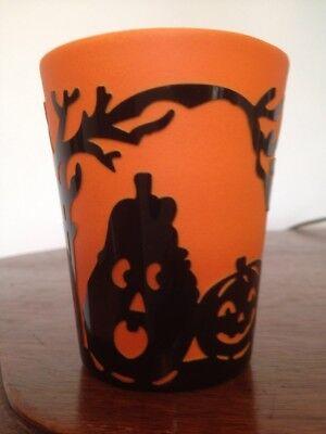 Bethany Lowe Carved Glass Votive Holder/Tumbler--Retired