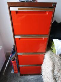 4 drawer retro Filing cabinet