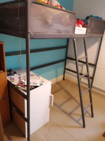 High bed frame (no mattress) from Ikea