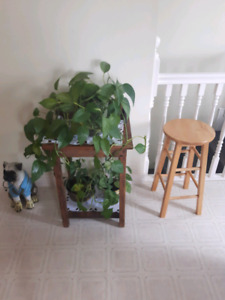 Homemade plant table