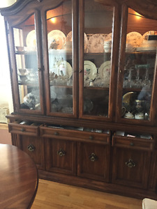 Dining room tables, 6 chairs, buffet & hutch