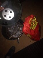 BBQ with full bag of charcoal