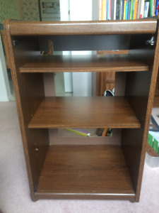 VINTAGE Record player stand with shelves, very nice condition