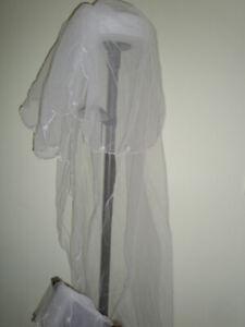 Wedding veil, train and head pieces