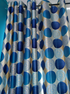 Brand new colourful and bright curtains