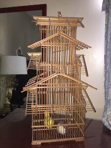 Belle cage en bois vintage