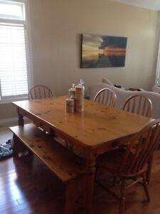 Beautiful Large Harvest Dining Room Set